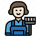 cleaner, housekeeping, janitor, maid, servant, housekeeping maid icon
