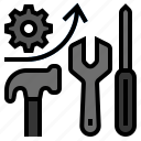 development, improve, improvement, repair, upgrade icon