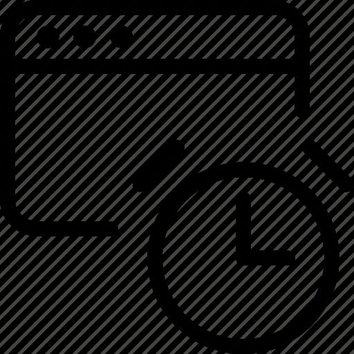 business, clock, optimization, product icon