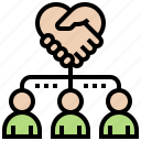 collaboration, crm, customer, management, relationship icon