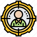 assassin, headhunter, sniper, target, wanted icon