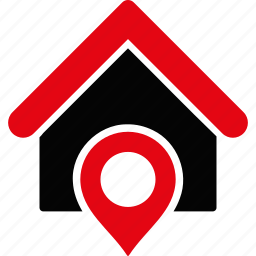 gps, home, house, location, map marker, navigation, pointer icon