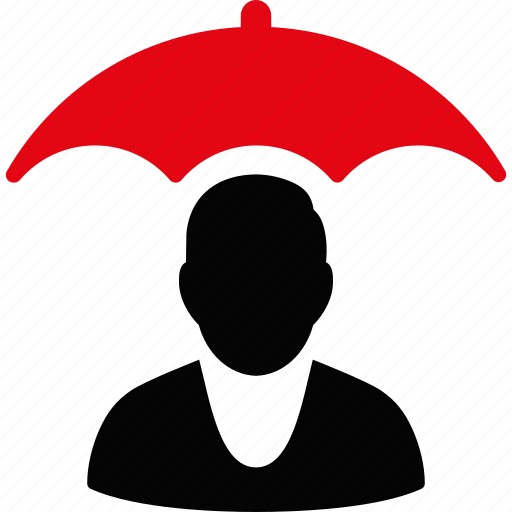 insurance, person, protection, safe, safety, shield, umbrella icon