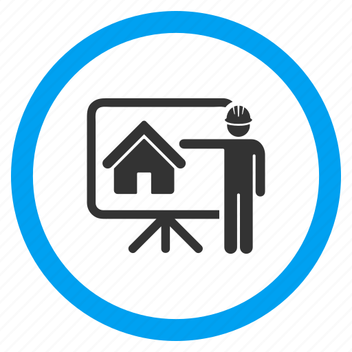Iconfinder business relations rounded by aha soft architecture blueprint draft home project house building plan presentation icon malvernweather Gallery