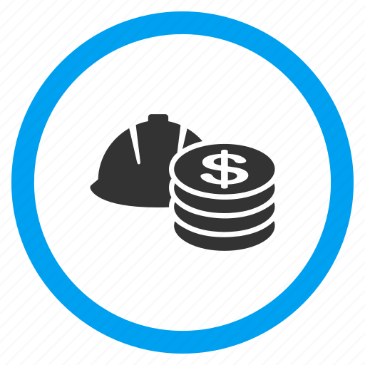 business, commercial, engineering, job cost, money, project, salary icon