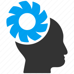 brain, control, engineering, gear, idea, memory, technology icon