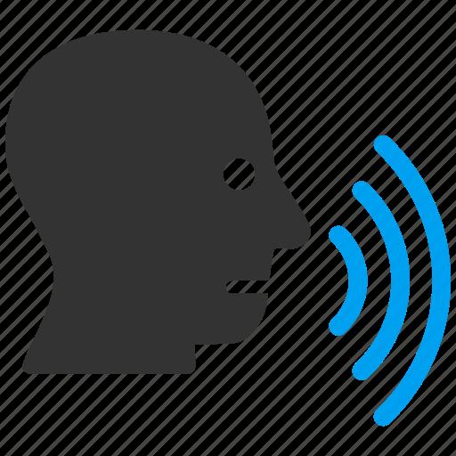 chat, comment, message, speak, speech, talk, voice icon