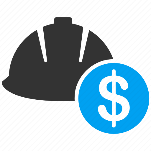 business, coin, currency, finance, helmet, money, salary icon