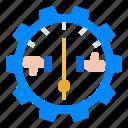 effectiveness, efficiency, indicator, performance, satisfaction icon