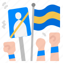 democracy, demonstration, political, protest, political unrest icon