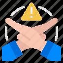 cancel, limitation, reject, restrict, restriction icon