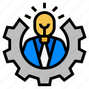 ability, capacity, genius, talent, talent management icon