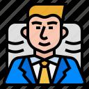 avatar, board, boss, ceo, executive icon