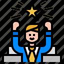 achievement, mission, succeed, success, winner, award, prize icon