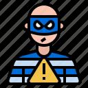 bandit, robber, security, theft, hazard risk icon