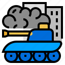 battle, conflict, tank, war, weaponry icon