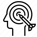 aim, goal, objective, purpose, target icon