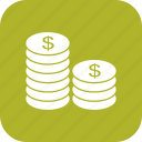 cash, coins, currency, money icon