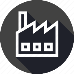 building, company, factory, industrial, industry, production icon