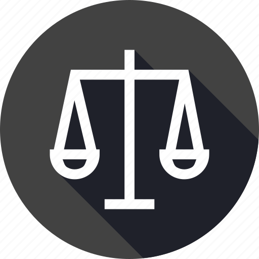 business, decision, equality, ethics, fair, law, scale icon