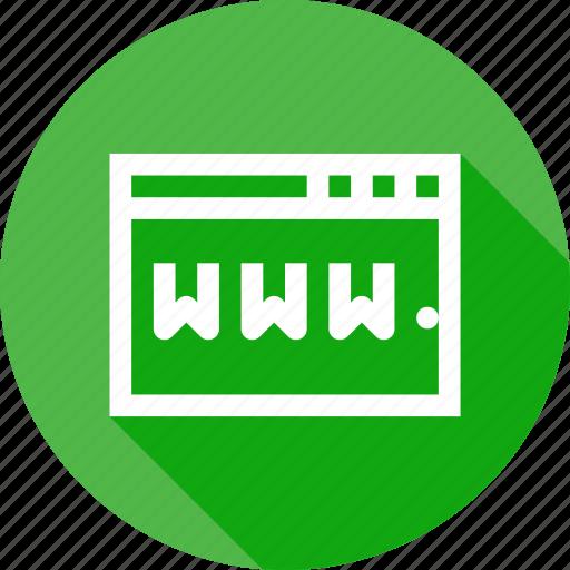 browser, internet, online, web, website, window, www icon