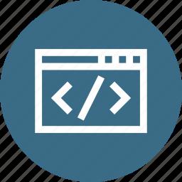 code, coding, css, development, html, javascript, window icon