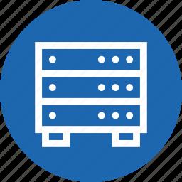 data, database, hardware, hosting, info, rack, server icon