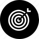aim, dart, focus, illusion, marketing, target icon