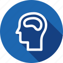 brain, human, memory, neurology, skill, study icon