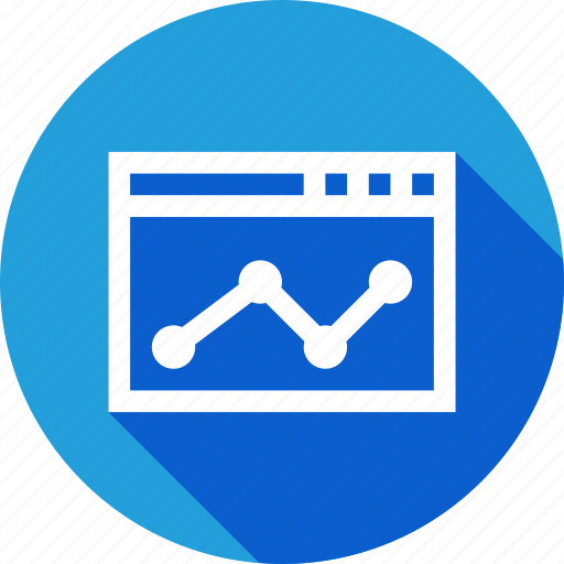 analysis, chart, digital, graph, marketing, window icon