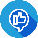 chat, like, marketing, media, motivate, social, thumb icon