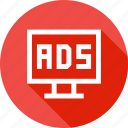 ads, advertising, branding, device, laptop, pramotion icon