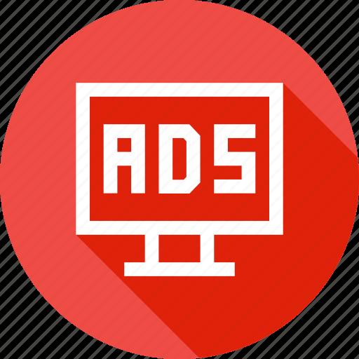 ads, advertising, branding, device, laptop, pramotion icon