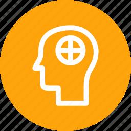 brain, care, health, human, man, mental, treatment icon