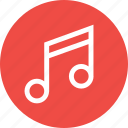 lyrics, music, note, player, song, sound, tune icon
