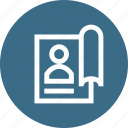 book, education, human, science, social, study, user icon