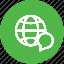 connect, ineternet, language, web, world icon