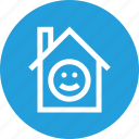 enviornment, happy, home, i, mprovement, smile icon