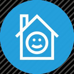 enviornment, happy, home, i, mprovement, smile icon