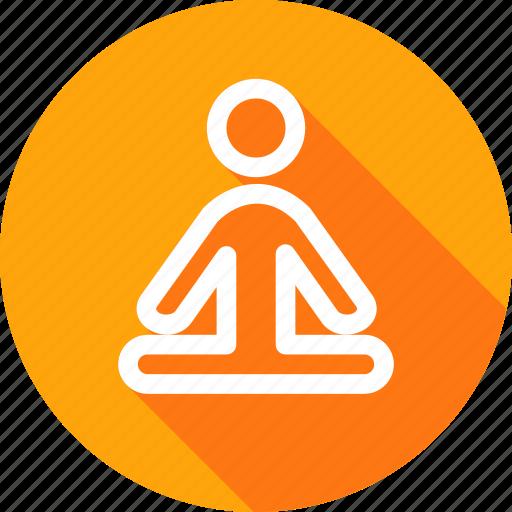 exercise, fresh, meditation, mental, physical, spiritual, yoga icon