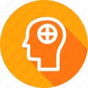 brain, care, health, human, man, mental, treatment icon