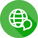 connect, ineternet, language, web, world icon