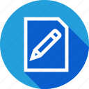 education, high, inernational, paper, pencil, school, study icon