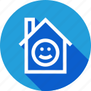 enviornment, happy, home, improvement, smile icon