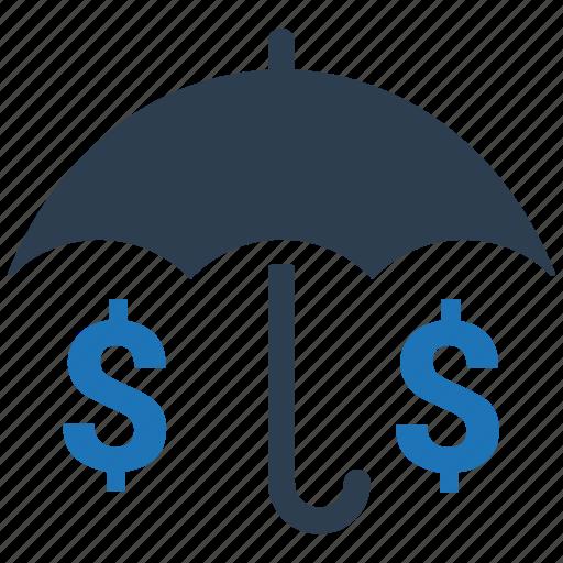 insurance, investments, money, protection, umbrella icon