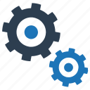 cog, gear, gears, technology, work icon