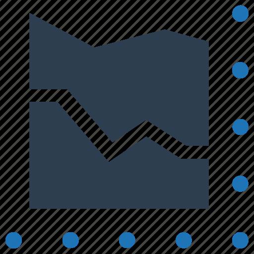 analytics, chart, curve, report, statistics icon