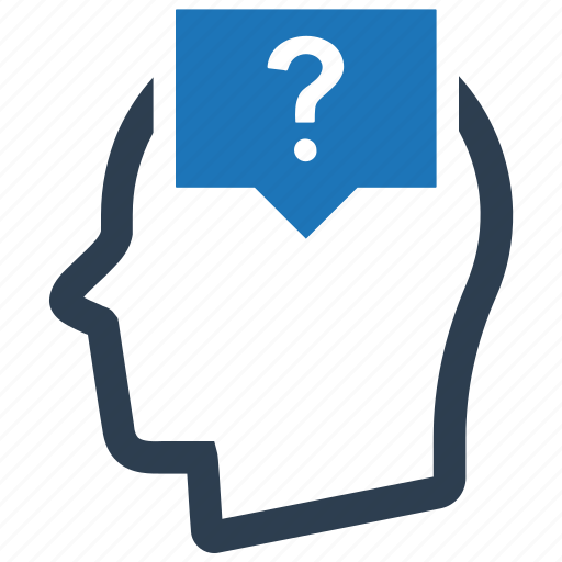 doubt, help, question, support, thinking icon