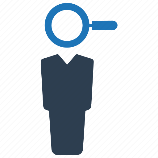 employee, hiring, looking, recruitment, search job icon