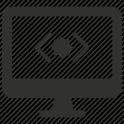 custom coding, development, programming, web, website icon